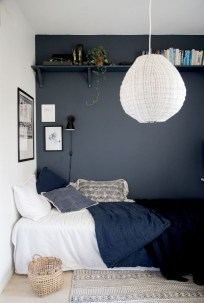 Delightful Bedroom Designs Ideas With Dark Wall That Breaks The Monotony 12