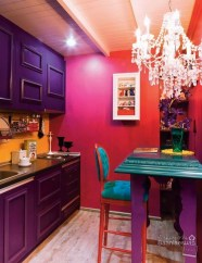 Splendid Kitchen Designs Ideas With Tones Of Vibrant Colors 37