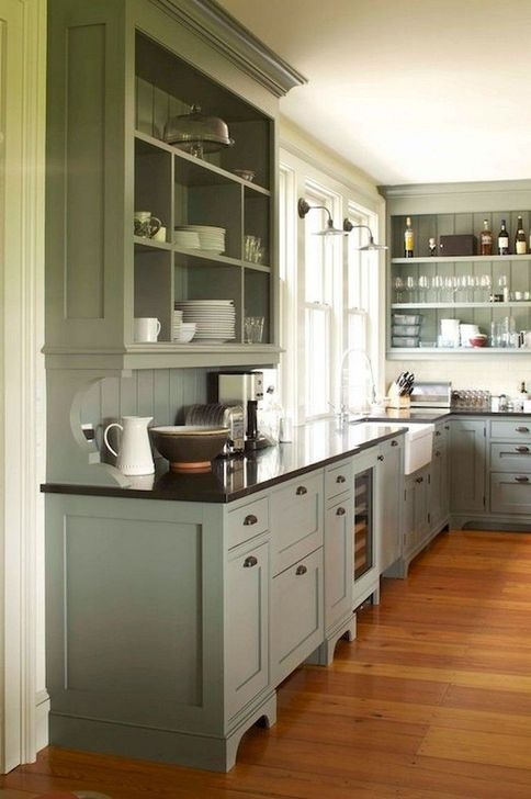 Classy Farmhouse Kitchen Cabinets Design Ideas To Copy 14