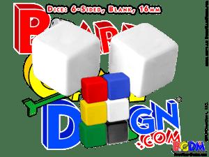 6 sided blank dice, d6