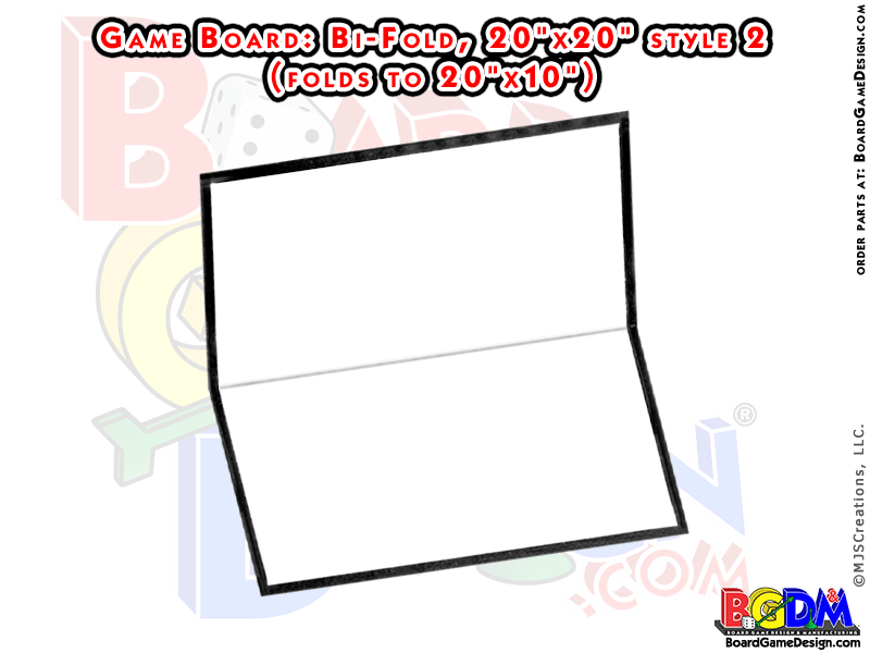 Blank Game Boards Bi Fold, Style 2 (20x20)