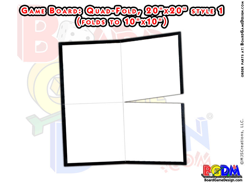 Blank Game Boards Quad Fold, Style 1 (20x20)