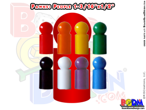 Pawns People Shaped, player pieces, movers