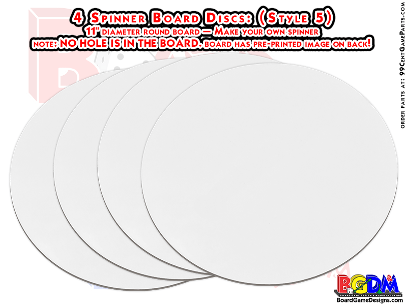 Blank Spinner Board Mat Discs, Round Spinner Board Game Mats, Spinner Boards, NO-Fold