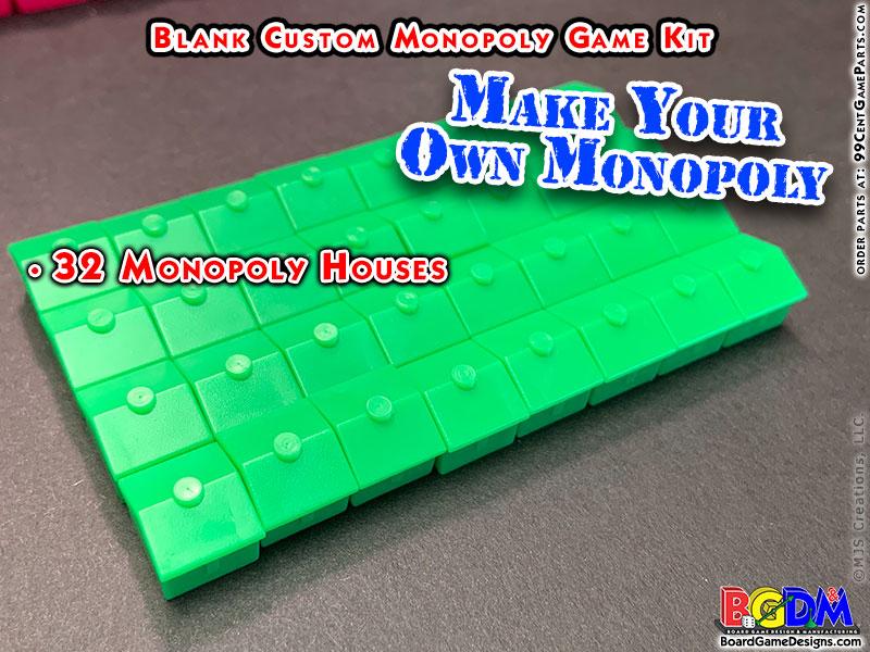 Blank Custom Monopoly Game Kit: Hotels