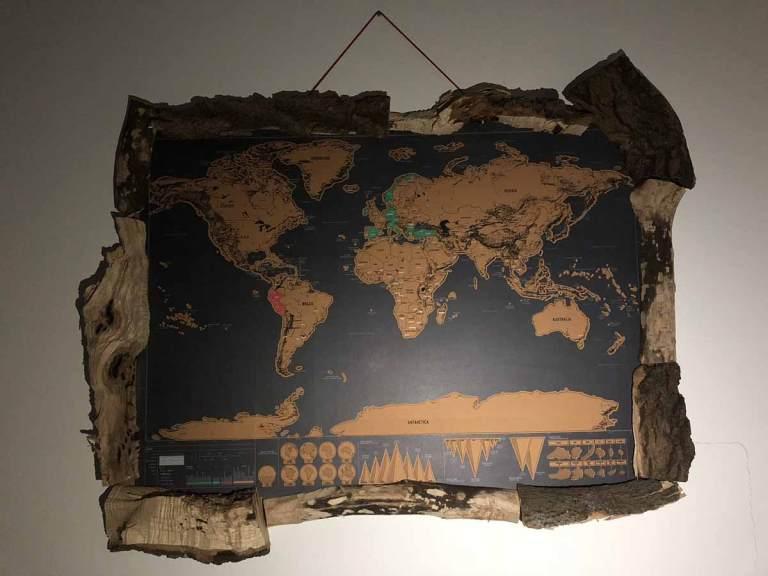 scratchmap für vielreisende, travel, freiheit, reisen, landkarte, weltkarte, designerwerke, handwerk
