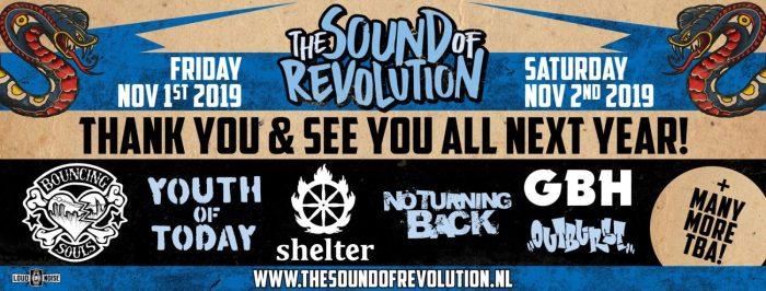 Eerste namen voor The Sound of Revolution 2019