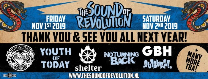 Eerste namen voor The Sound of Revolution 2019