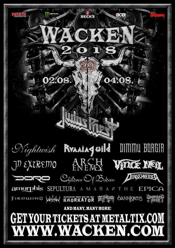 Judas Priest naar Wacken Open Air 2018