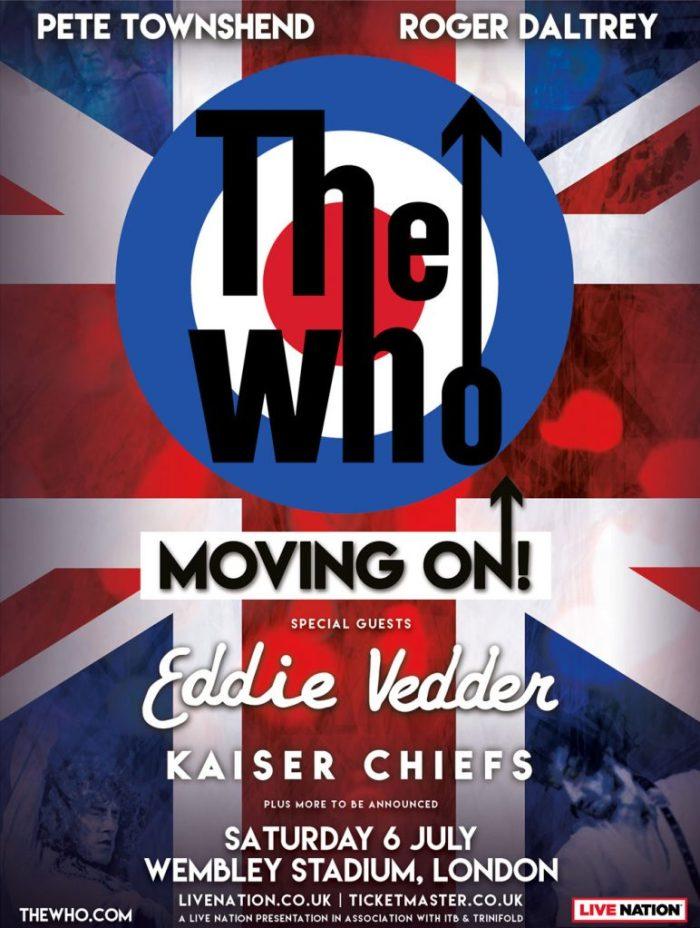 The Who met Eddie Vedder naar Wembley