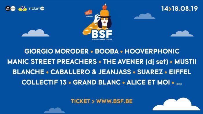 Brussels Summer Festival verwelkomt Manic Street Preachers, Giorgio Morodor en meer