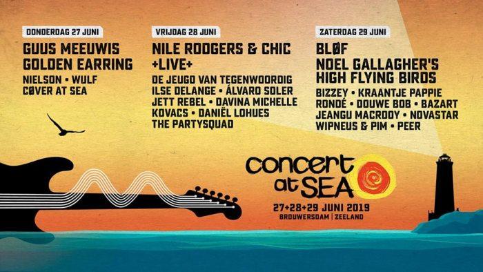 Noel Gallagher, Bazart en meer naar Concert At Sea 2019