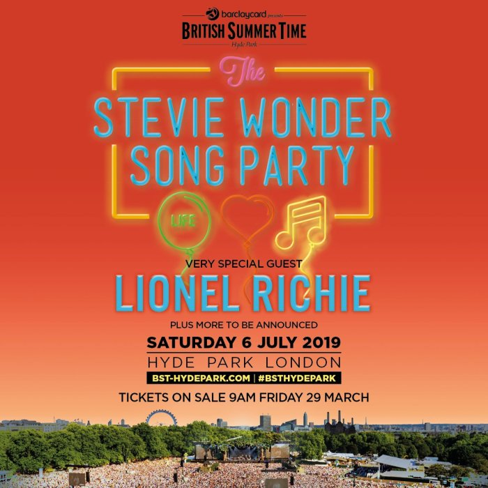 British Summer Time 2019 onthult Stevie Wonder, Lionel Richie en meer