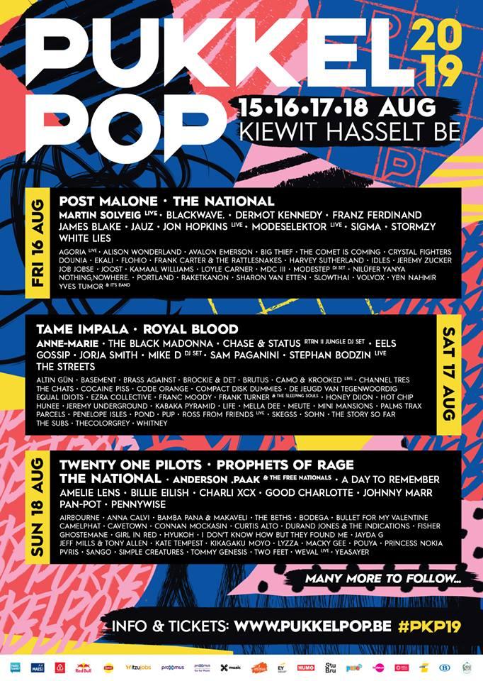 19 nieuwe namen voor Pukkelpop 2019 met A Day To Remember en Gossip