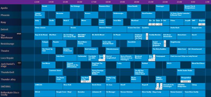 Paaspop 2019 presenteert timetable Zondag