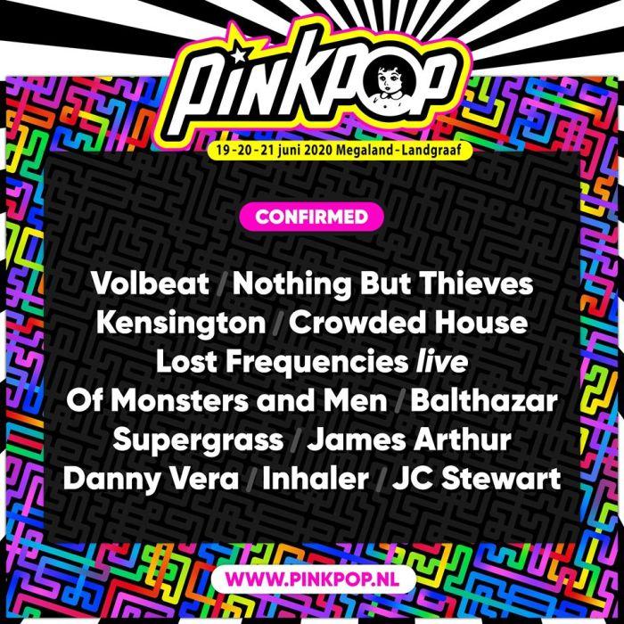 Volbeat, Nothing But Thieves en meer voor Pinkpop 2020