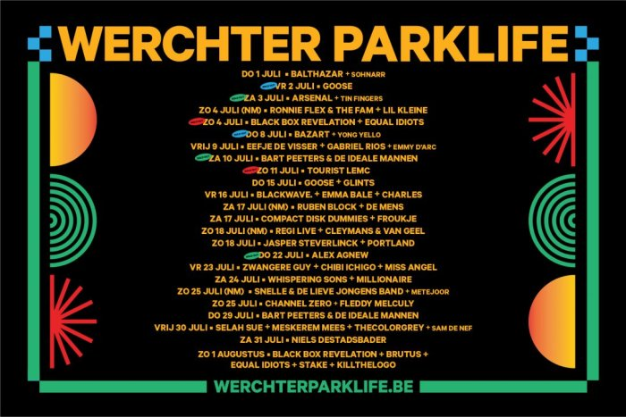 Ook Channel Zero en Fleddy Melculy op Werchter Parklife 2021