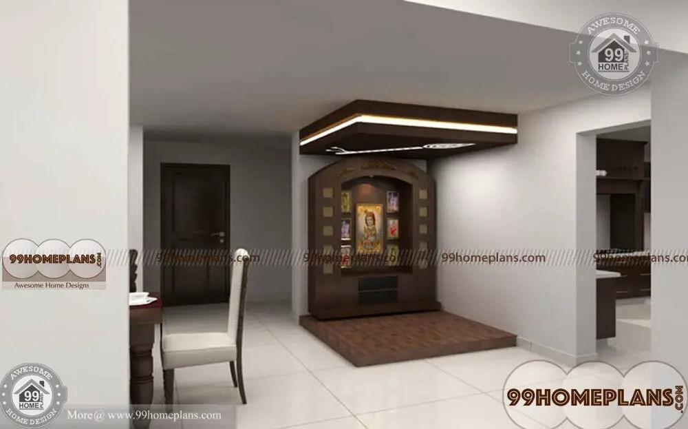 Mandir Designs For Small Room With Kerala Style Prayer