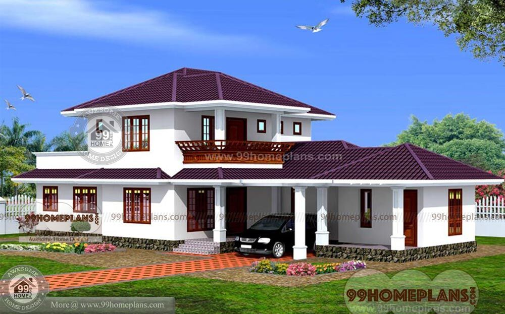 Sloped Roof Front Elevation Home Plan Designs Double