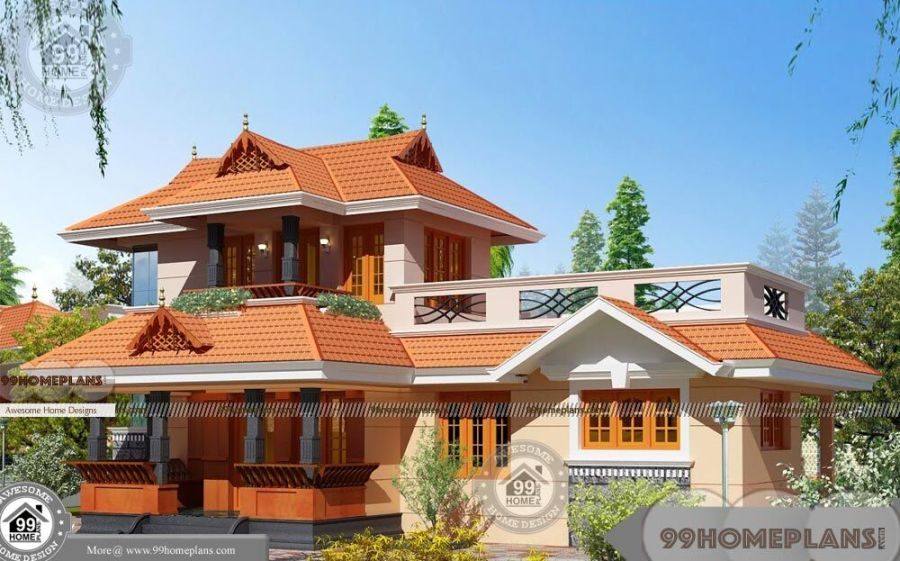 3 Bedroom House Plans In Kerala Double Floor Traditional Style Homes Budget of this house is 33 Lakhs     3 Bedroom House Plans In Kerala Double  Floor