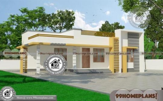 Modern 3 Bedroom House Design with One Story Model Flat Roof Plans