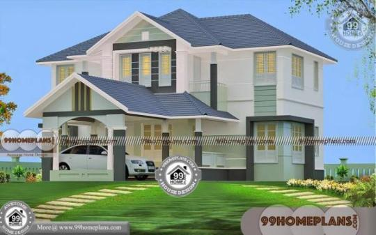 2 Story House Plans With 4 Bedrooms with Traditional Home Exterior Plan