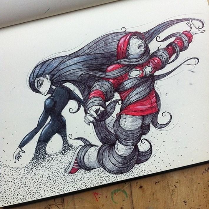 Amazing pencil art sketches 15