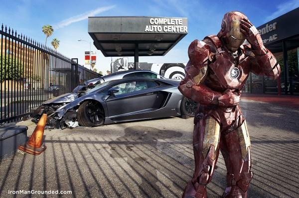 Iron Man Grounded Humanizes Photos