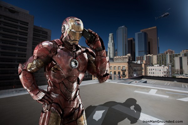 Iron man pick up the phone