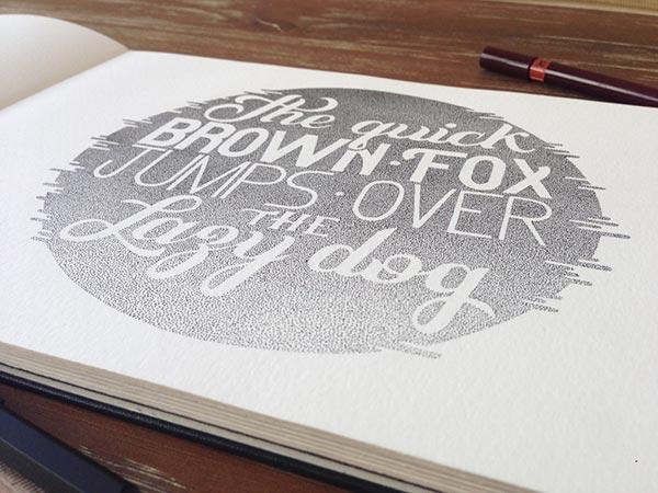 Stunning Stippling Art Typography and illustration