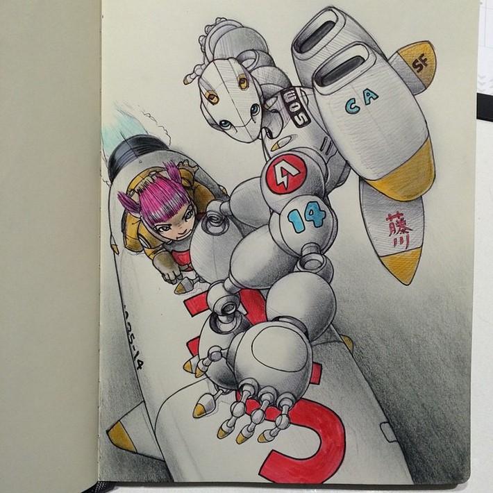 fantastic sketches drawings pencil 11