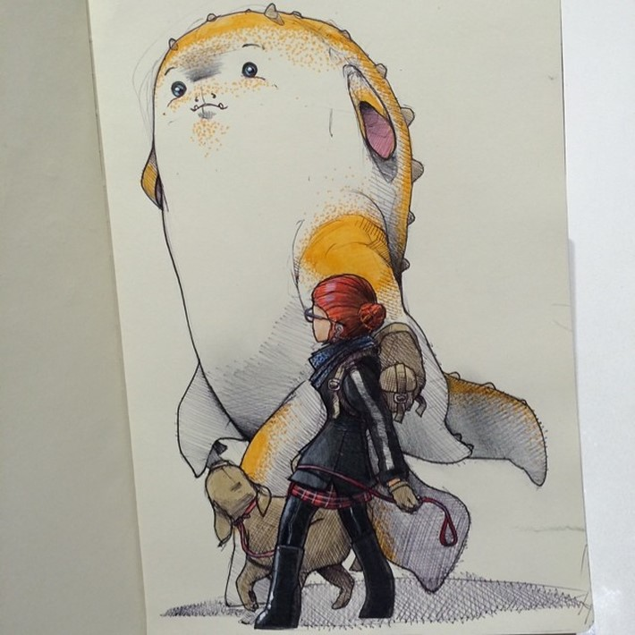 fantastic sketches drawings pencil 8