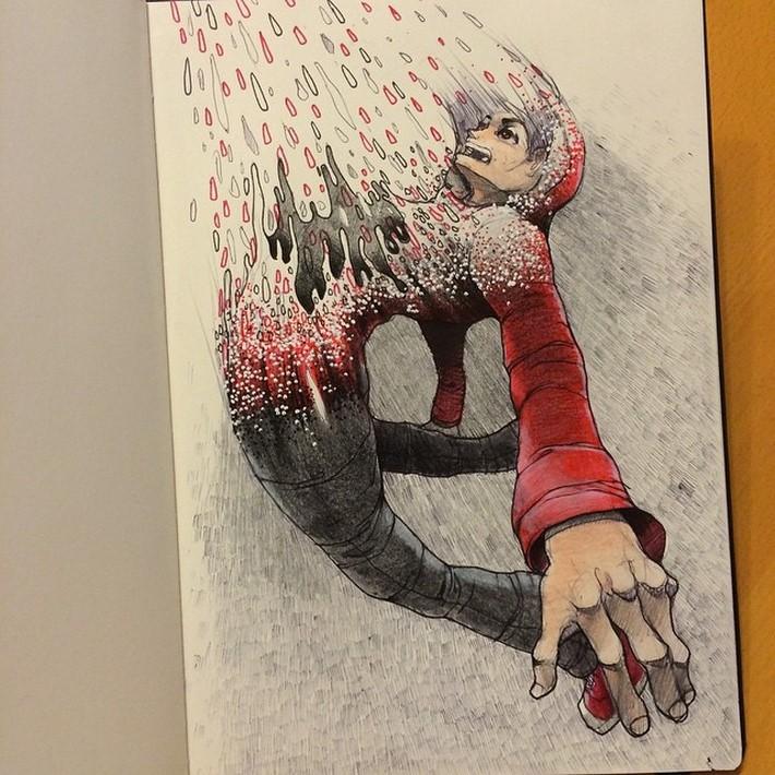 fantastic sketches drawings pencil
