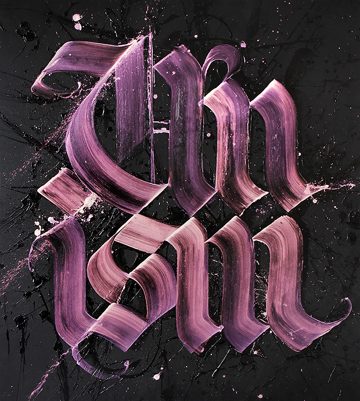 Amazing Calligraphy Font Design by neils shoe meulman