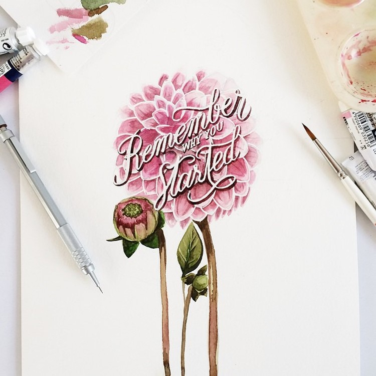 Amazing Watercolor Lettering Quotes by june Digan