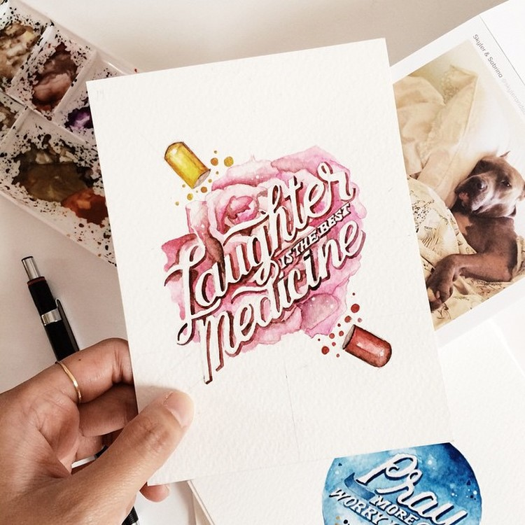 Beauty Watercolor Lettering Quotes by june Digan 02