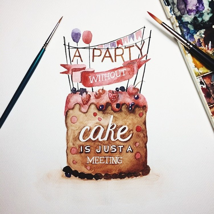 Best Watercolor Lettering Quotes by june Digan