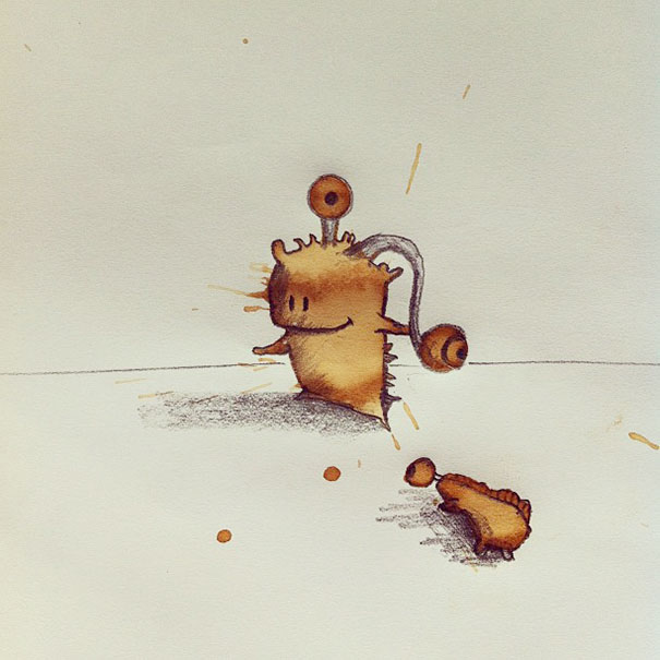 Funny Monster Coffee Stains