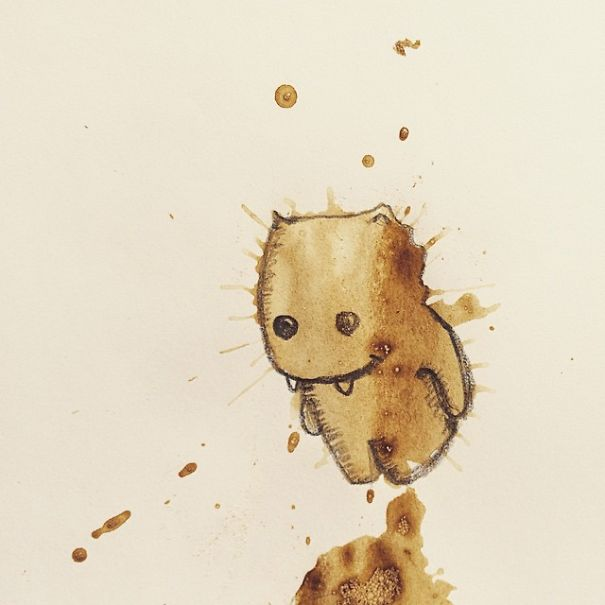 Monster Coffee Stains Drawings