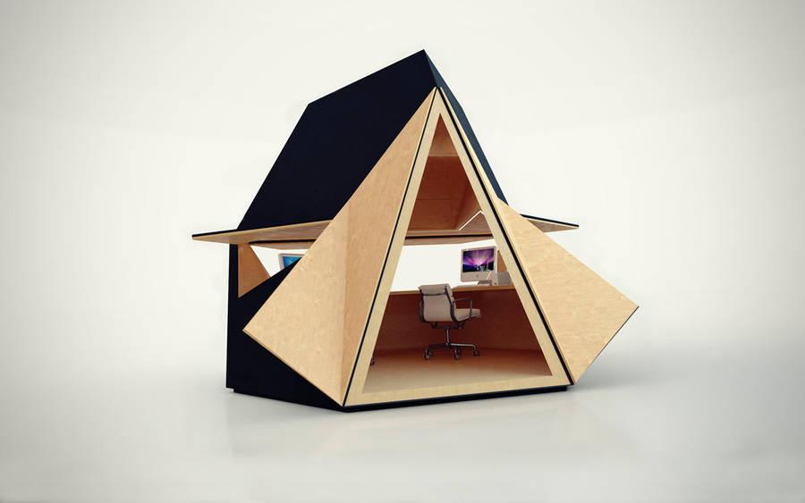 Unique Portable Wooden Home Office 002