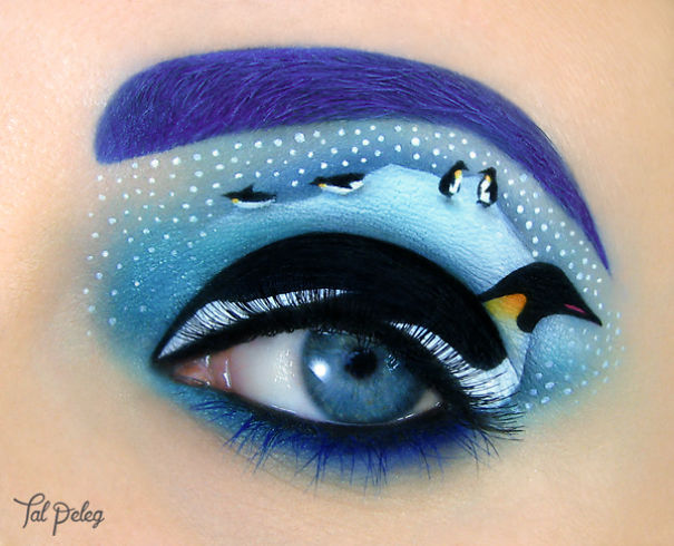 Penguin Beutiful Eye Canvas Makeup by Tal Paleg