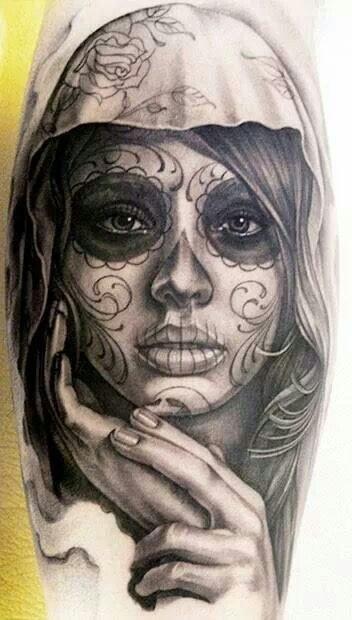Beauty Sugar Skull Tattoo Meaning