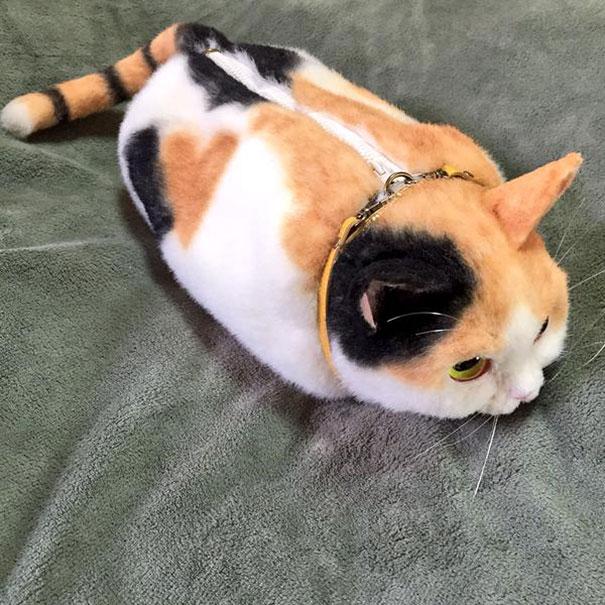 Creative Handmade realistic cat bags pico 61