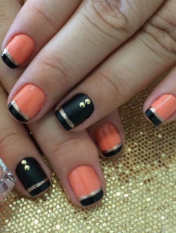 Black-and-pink-frech-nail