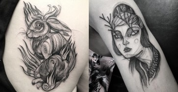 Creative Tattoo Idea: Tatto Look Like Pencil Drawings