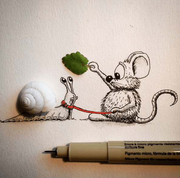 Creative Drawing Art Make from Everyday Object 04