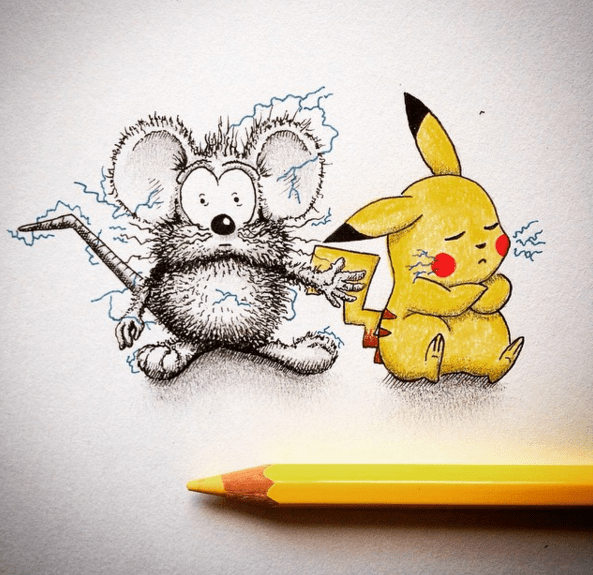 Creative Drawing Art Make from Everyday Object