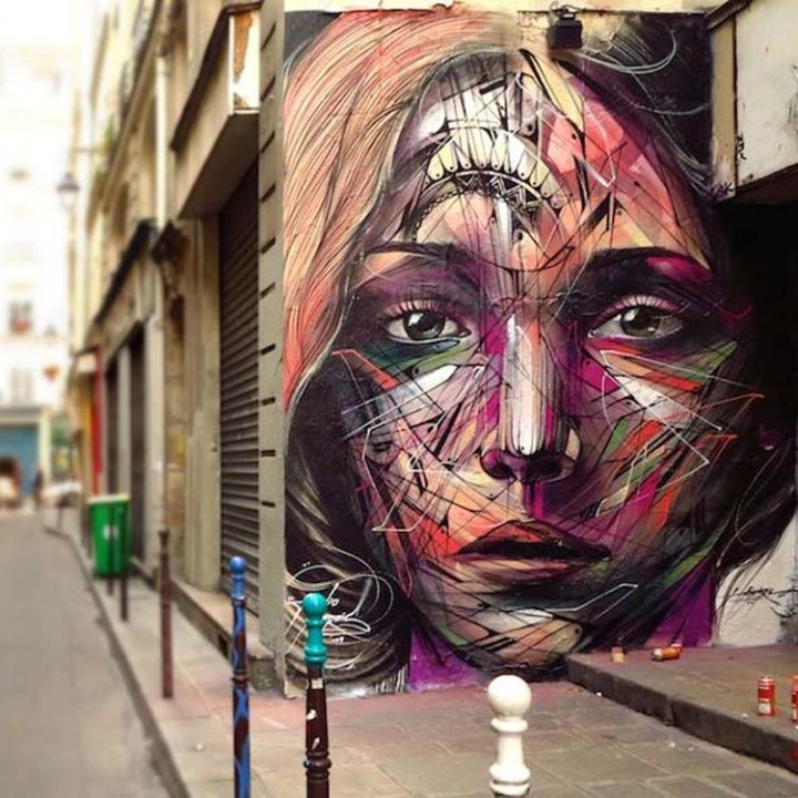 Creative Street Art and Graffiti Designs by-Hopare-in-Paris