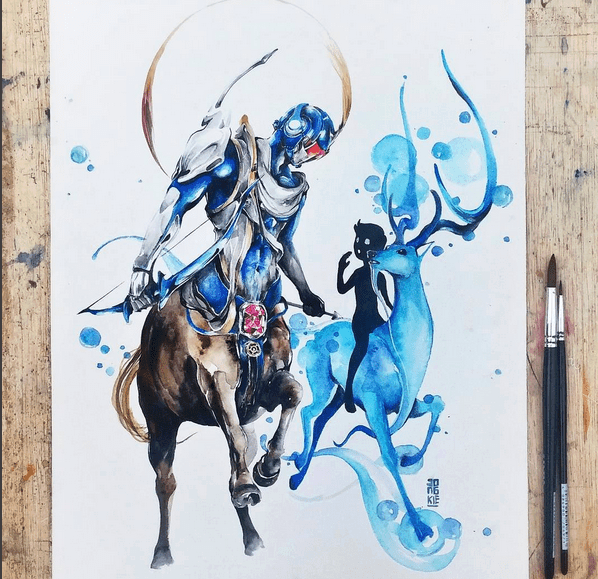 Gorgeous Watercolor Paintings by Luqman Reza Mulyono 01
