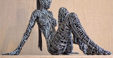 Creative Wire Sculpture Art by Richard Stainthorp